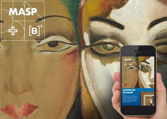 Screenshot do site Acervo B3 no Masp