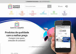 Screenshot do site Santo Amaro Limpeza