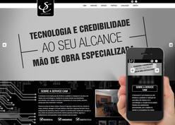 Screenshot do site SERVICECAM