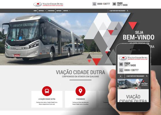 Screenshot do site Viação Cidade Dutra